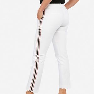 Express NWT mid rise side stripe ankle pant